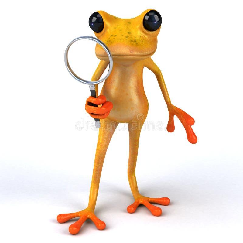 Лягушка потехи - иллюстрация 3D иллюстрация вектора