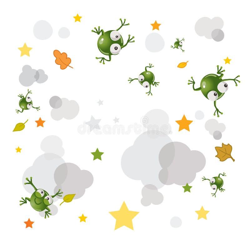 лягушка предпосылки бесплатная иллюстрация