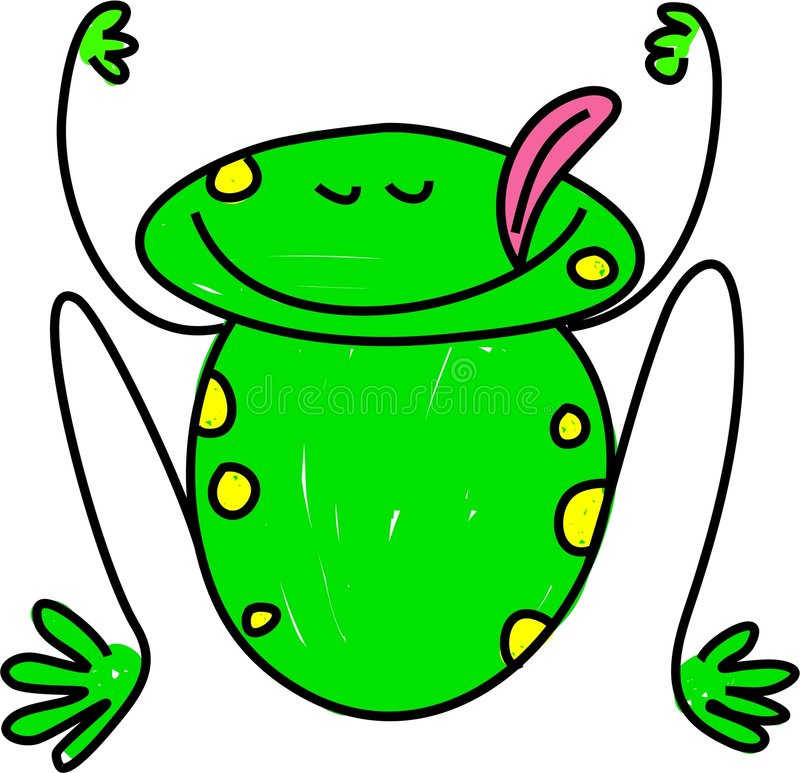 лягушка иллюстрация вектора