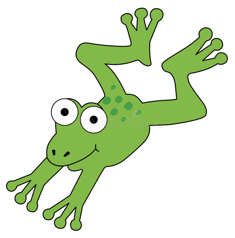 Лягушка иллюстрация штока