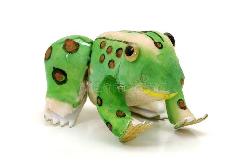 лягушка handcrafted стоковое изображение rf