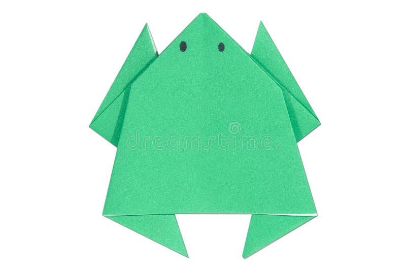 Лягушка Origami стоковое изображение