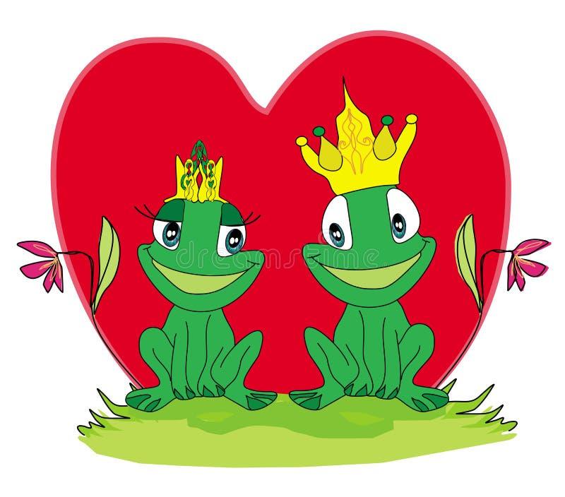 Лягушки в влюбленности иллюстрация вектора