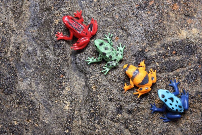 Лягушки игрушки стоковая фотография rf