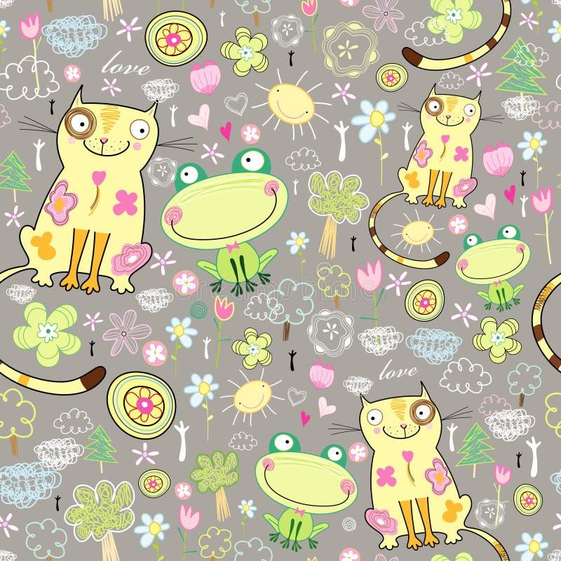 лягушки котов любят текстуру бесплатная иллюстрация