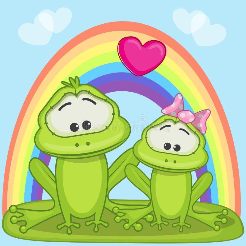 Лягушки любовников иллюстрация вектора
