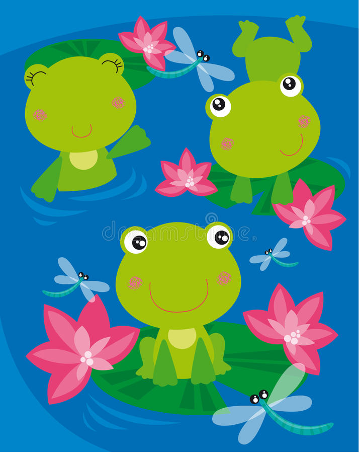 лягушки 3 иллюстрация штока