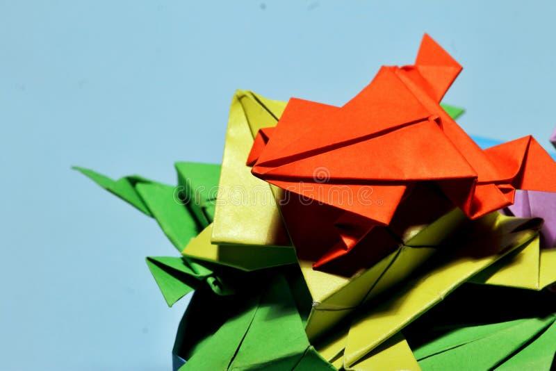 Лягушки Origami стоковые фотографии rf