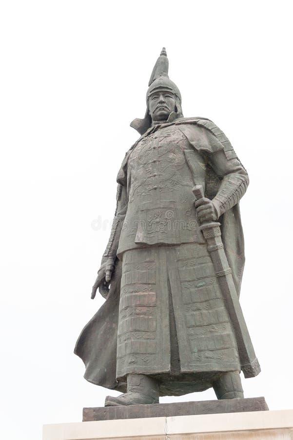 ЛЯОНИН, КИТАЙ - 31-ое июля 2015: Статуя Hong Taiji на Zhaoling Томе стоковое фото rf