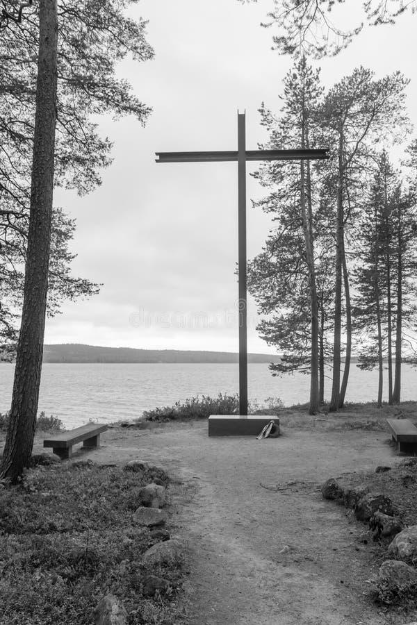Мавзолей для немецкого солдата который умер в WWII, Rovaniemi стоковые изображения