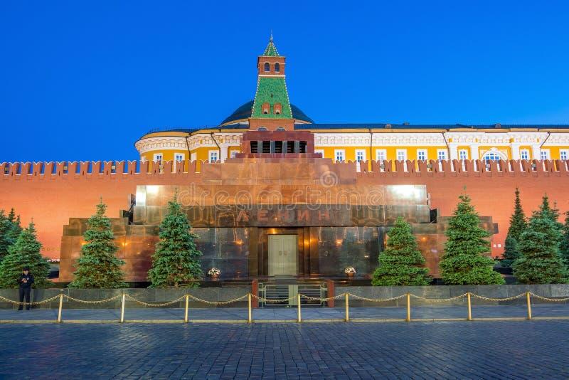 Мавзолей Ленина на красной площади в Москве стоковые фотографии rf
