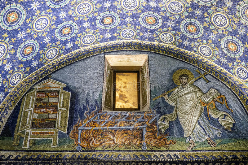 Мавзолей Равенны эмилия-Романьи Италии Европы placida galla стоковое фото rf