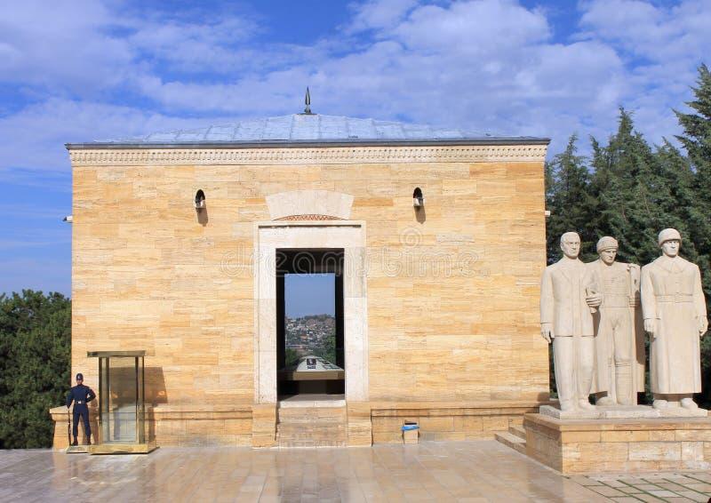 Мавзолей Anitkabir Ataturk, Анкары, Турции стоковая фотография