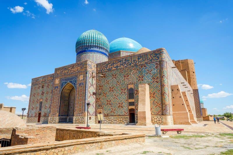 Мавзолей Turkistan, Казахстан стоковые фотографии rf