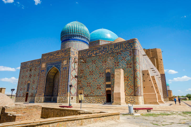 Мавзолей Turkistan, Казахстан стоковое фото rf