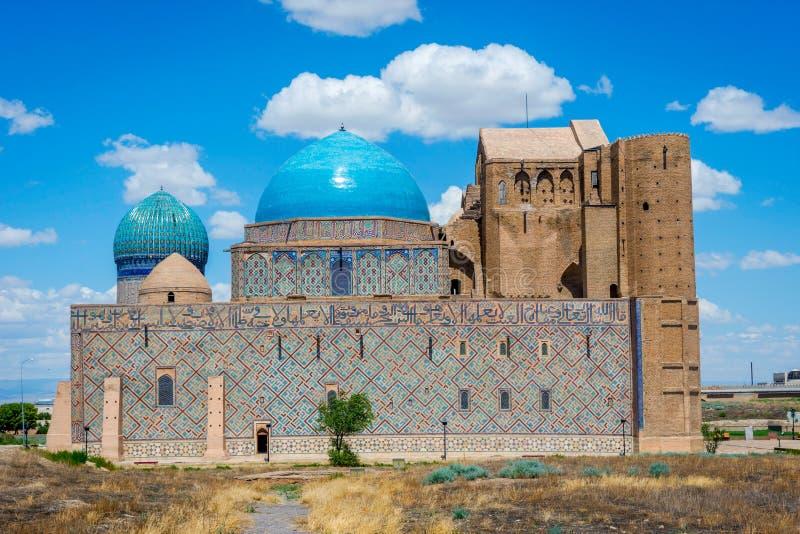 Мавзолей Turkistan, Казахстан стоковое фото