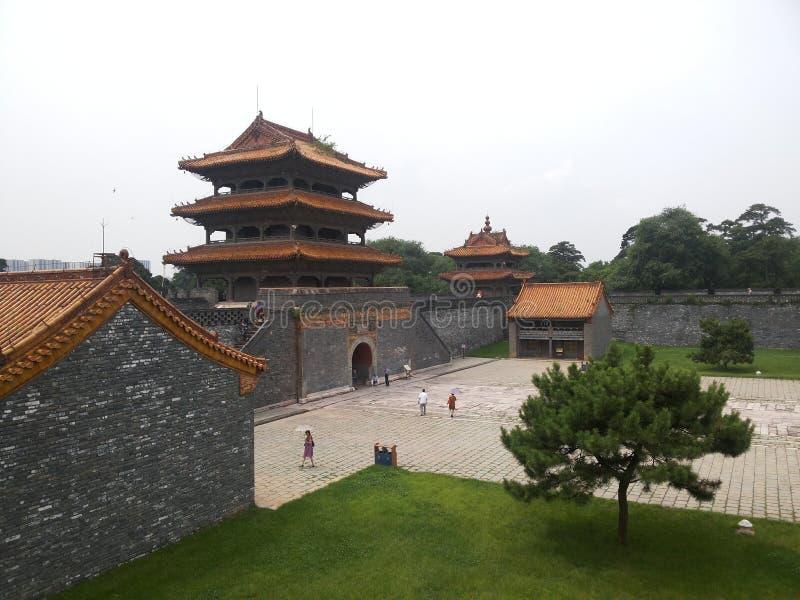 Мавзолей Zhaoling династии Qing стоковое фото