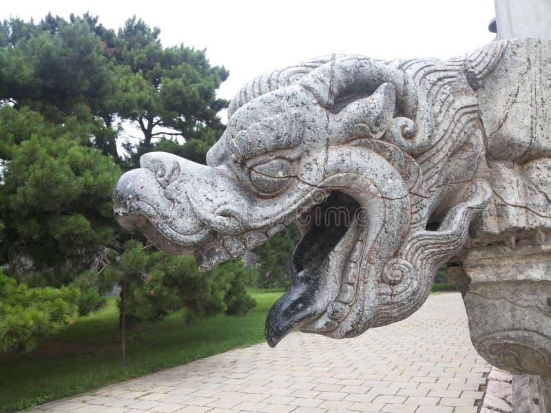 Мавзолей Zhaoling дракона  ¼ Qing Dynastyï стоковая фотография