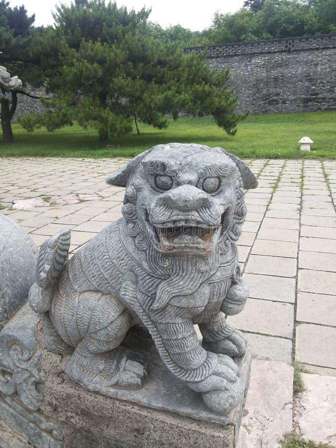 Мавзолей Zhaoling статуи  ¼ Qing Dynastyï стоковые изображения rf