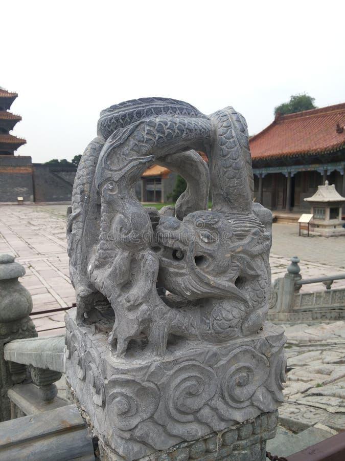 Мавзолей Zhaoling статуи  ¼ Qing Dynastyï стоковые фото