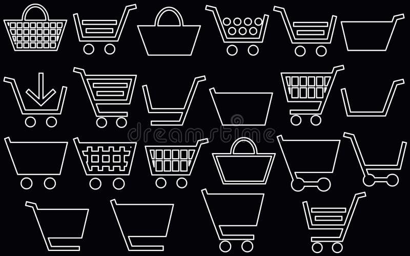 магазинная тележкаа 22 белой линии obek стоковые фотографии rf
