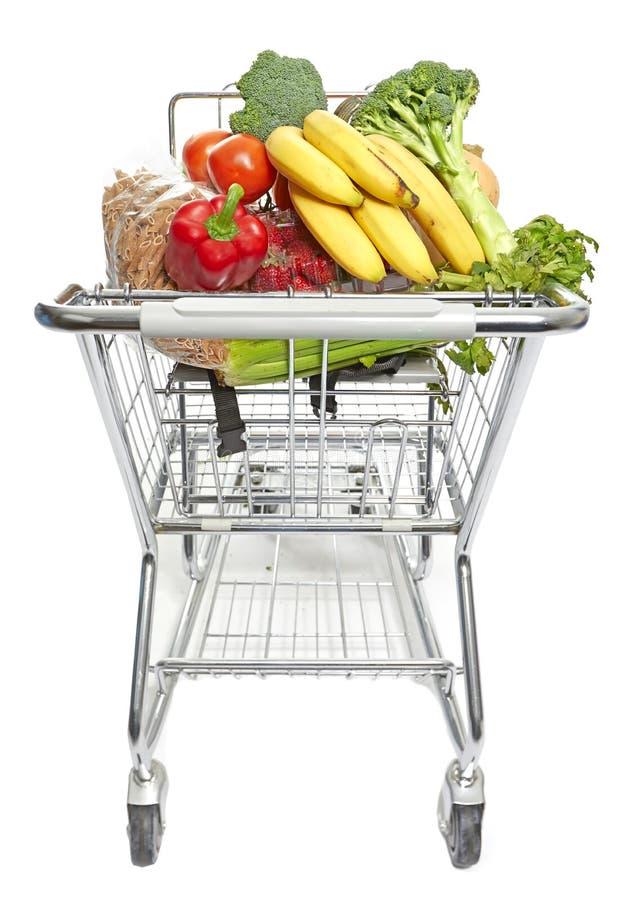 Магазинная тележкаа с едой стоковая фотография rf