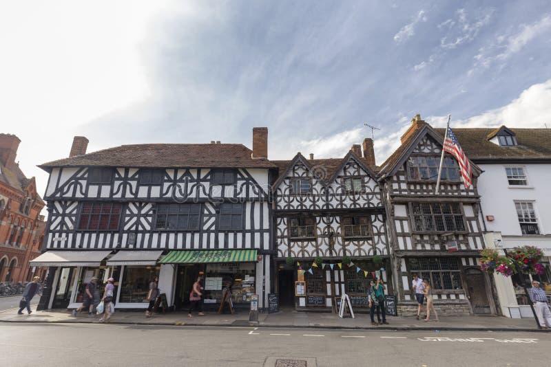Магазины в Стратфорд-на-Эвон стоковое фото rf