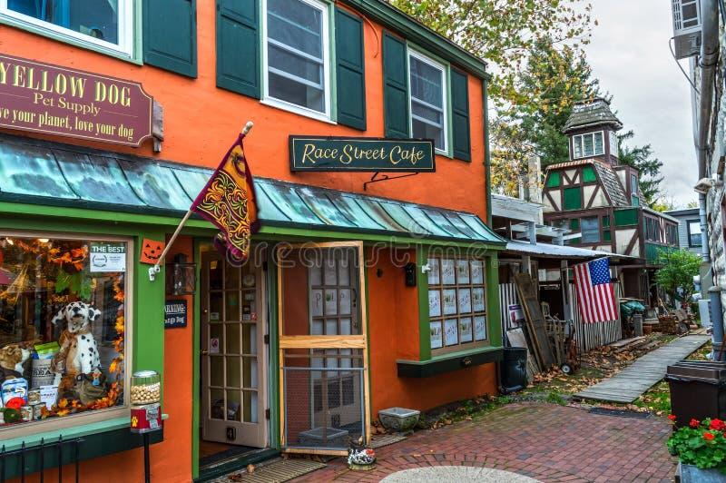 Магазины Frenchtown стоковая фотография rf