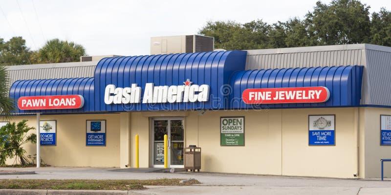 Магазин Америки наличных денег стоковые фото