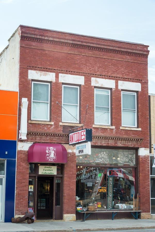 Магазин антиквариатов в Sturgis, Южной Дакоте стоковые фото