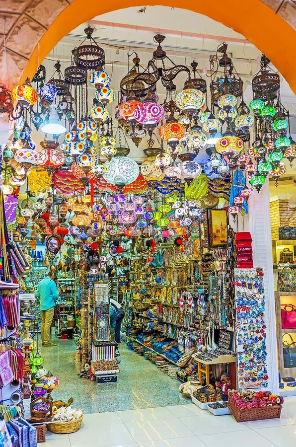 Магазин аравийских светов стоковое фото rf