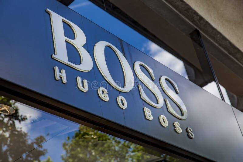 Магазин босса Хьюго стоковые фотографии rf