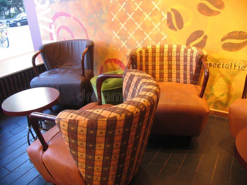 магазин внутренности кофе стоковое фото rf