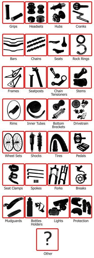 магазин горы деталей bike e бесплатная иллюстрация