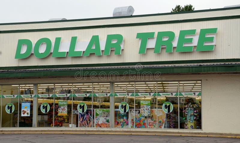 Магазин дерева доллара стоковая фотография rf