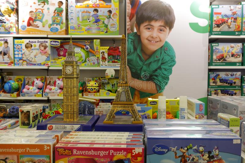 Магазин игрушек ` s детей, саман rgb стоковые фотографии rf