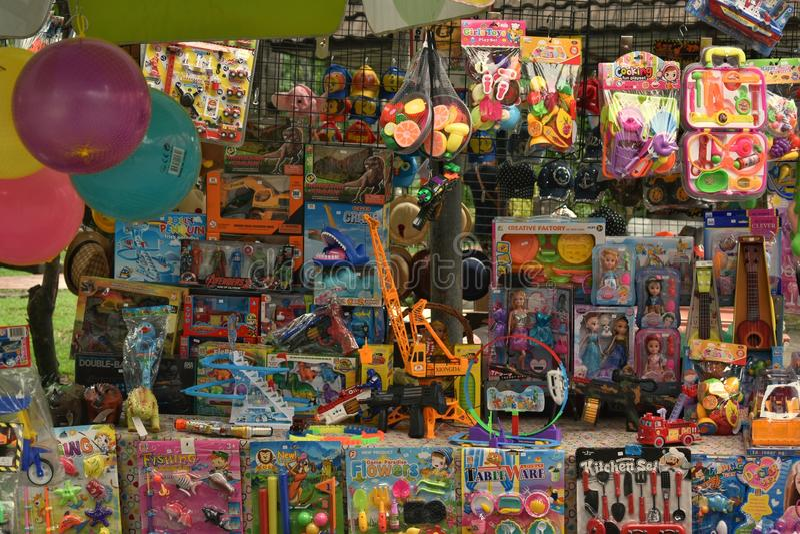 Магазин игрушки стоковое фото rf