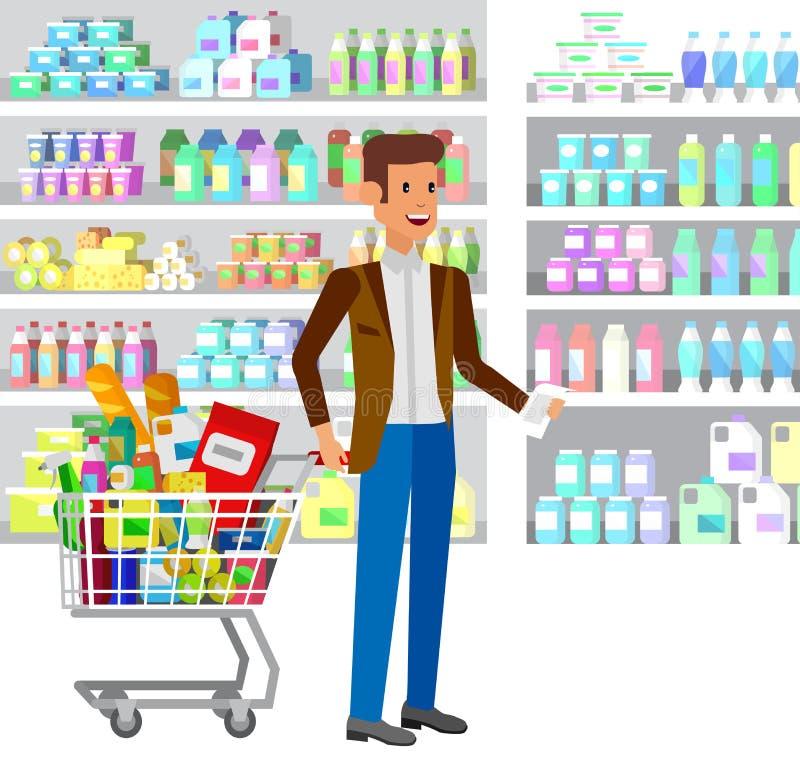 Магазин, иллюстрации вектора супермаркета плоские бесплатная иллюстрация