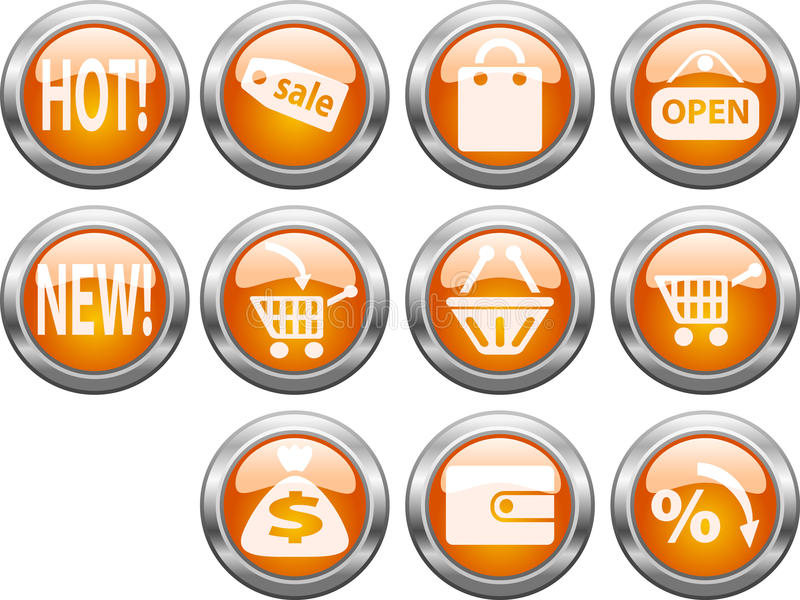 магазин кнопок стоковое изображение