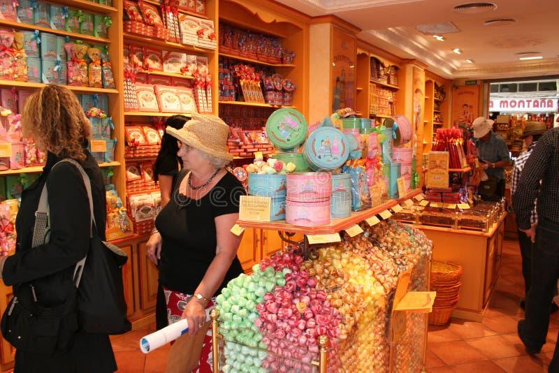 магазин конфеты стоковые фото