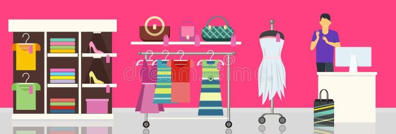 Магазин магазина моды одевает одежды бесплатная иллюстрация