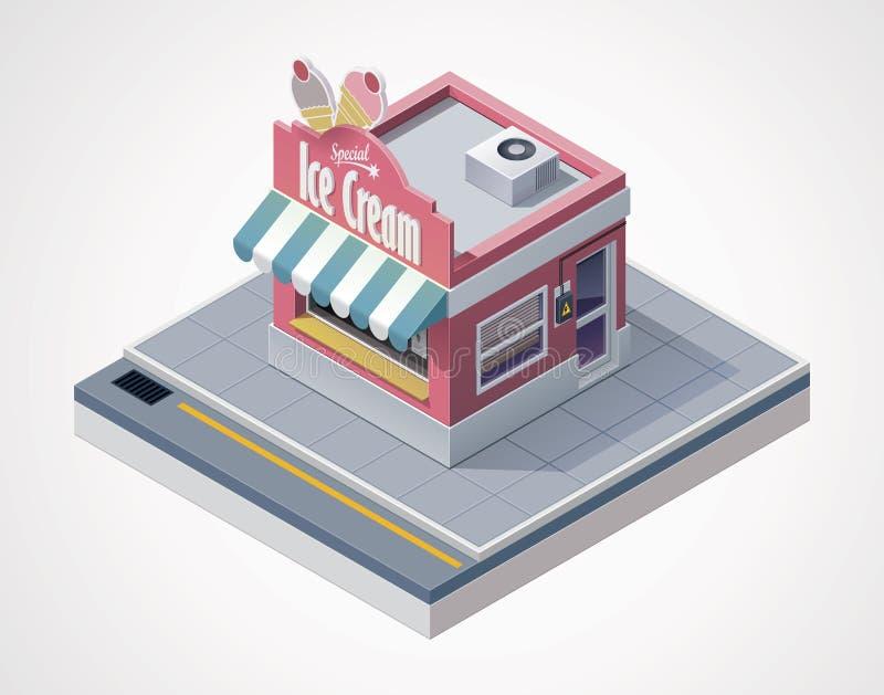 Магазин мороженного вектора равновеликий иллюстрация штока
