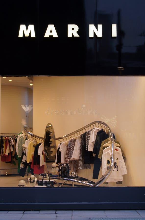 Магазин моды Marni в Китае стоковое фото