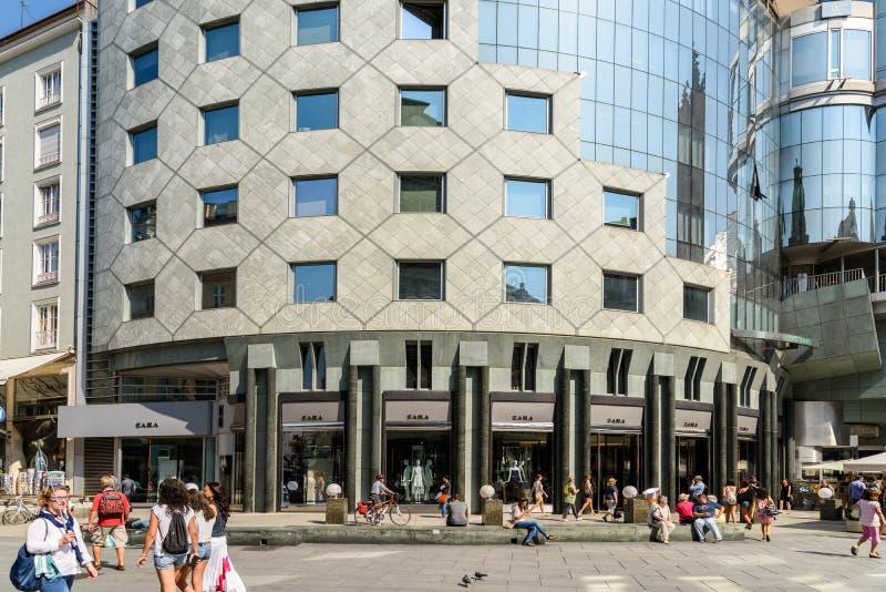 Магазин моды Zara стоковое фото