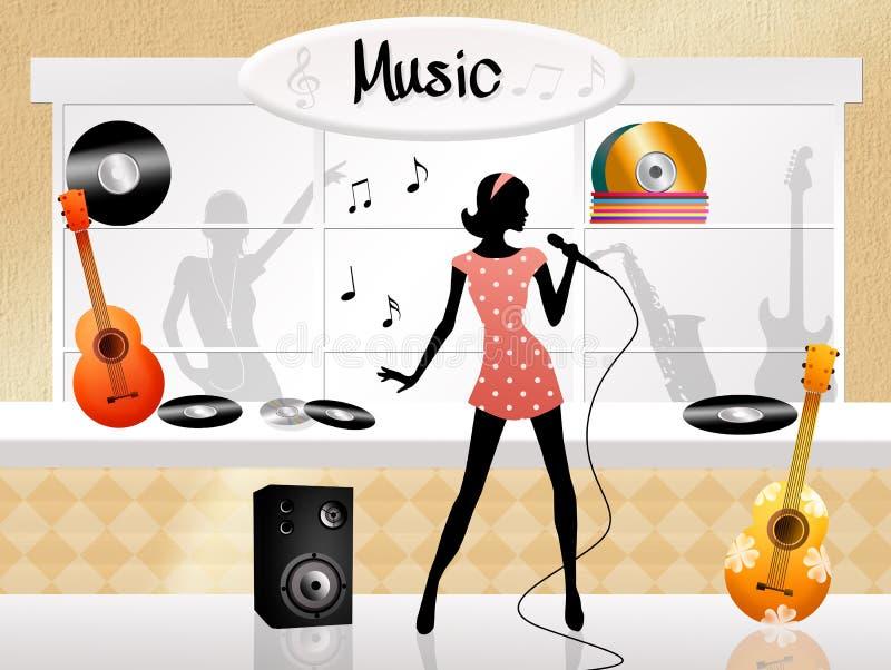 Магазин музыки бесплатная иллюстрация
