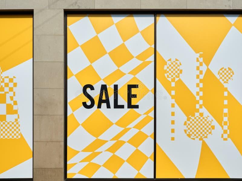 Магазин окна продажи стоковая фотография