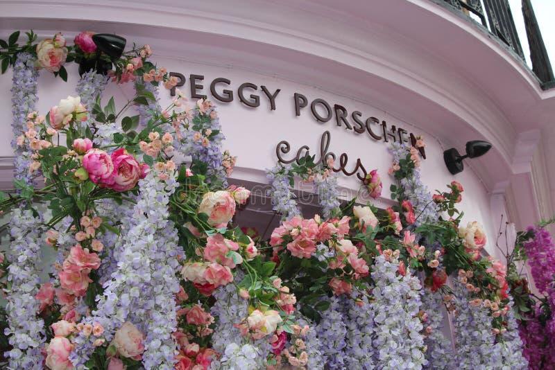 Магазин Пегги Porschen торта испечет фасад, Лондон Англию стоковые изображения rf