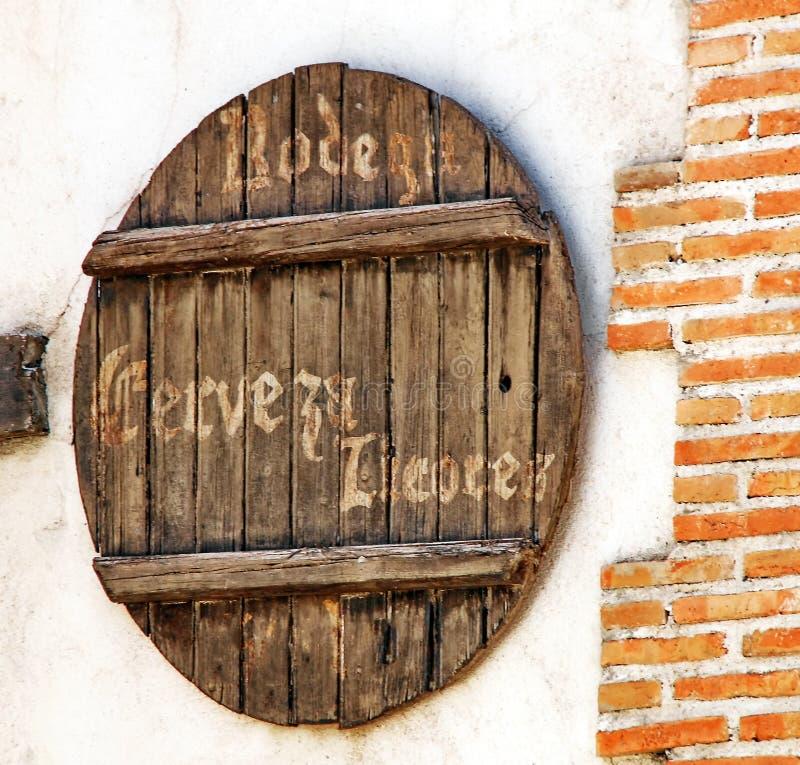 Магазин пива Испании стоковая фотография rf