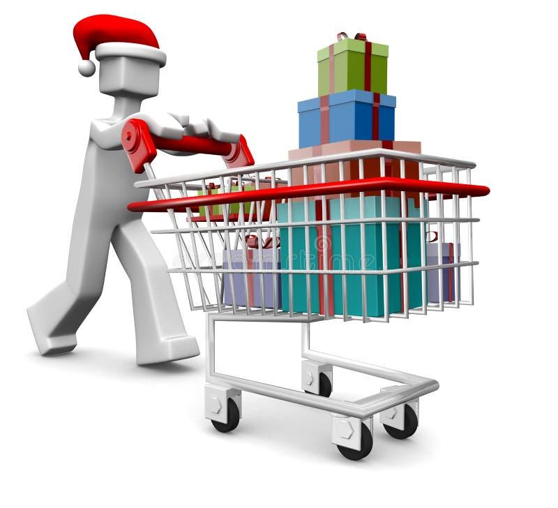 магазин подарков и сувениров рождества торжества бесплатная иллюстрация