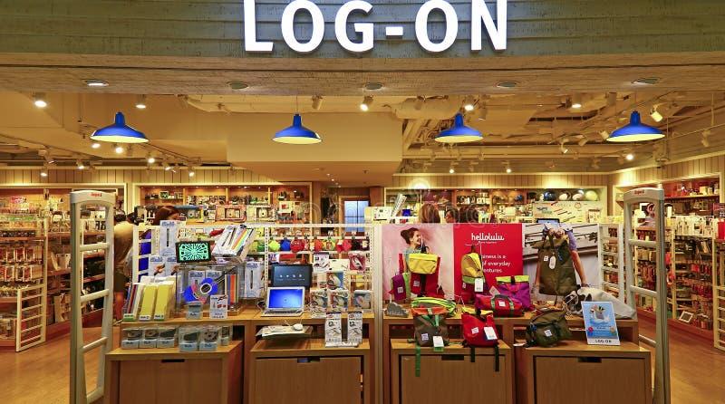 Магазин покупок logon, Гонконг стоковое фото rf